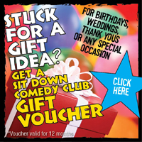 Gift Vouchers for The Sit Down Comedy Club @ The Paddo Tavern